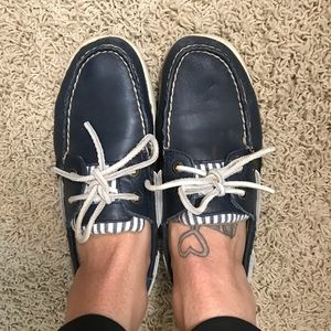 Authentic leather Sperry boat shoes